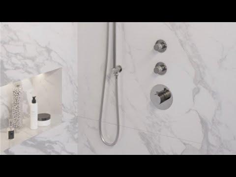 Brauer Chrome Edition thermostatische inbouw doucheset - chroom - hoofddouche 30cm - plafondsteun - ronde handdouche