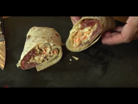 Easy and Quick Pastrami Wrap | SAM THE COOKING GUY