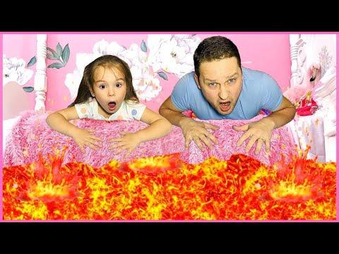 Пол это лава the floor is lava и смешные истории с папой от Софита Шоу
