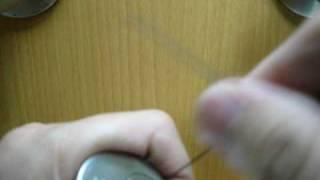 Pick a deadbolt door lock with bobby pins