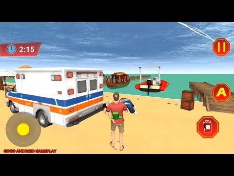 Beach Rescue Training Simulator - Ambulance Beach Mission Android GamePlay FHD