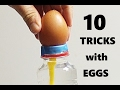 10 AMAZING TRICKS WITH EGGS!