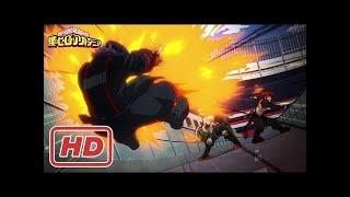 Bakugou, Kirishima and Kaminari vs Seiji Shishikura [FULL FIGHT]