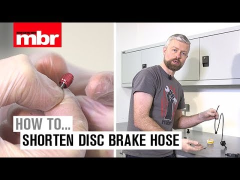 How To Shorten Disc Brake Hose | Mountain Bike Rider