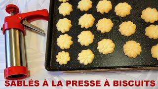 Sablés à la presse à biscuits
