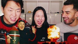 Кореянка Смотрит Клип LITTLE BIG - LollyBomb