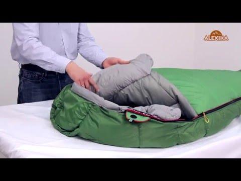 Смотреть видео Спальный мешок Alexika Mountain
