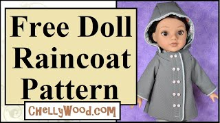 Free Doll Clothes Patterns: Doll Coat With Hood