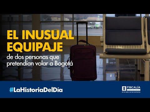El inusual equipaje de dos personas que pretendían volar a Bogotá