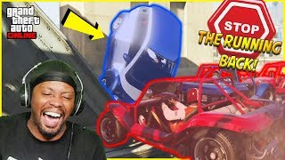 We Threw Him Over The Bridge! The ULTIMATE Running Back Defense! (GTA 5 Funny Moments)
