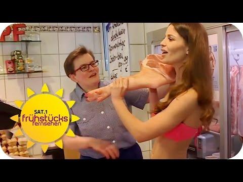 Sexy Metzgerin wirbt für Azubis   SAT.1 Frühstücksfernsehen