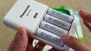 Unboxing New & Latest Panasonic eneloop Rechargeable Batteries Kit + USB Adapter! 11 2017