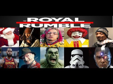 WWE 2k18 Created Superstar Royal Rumble Most Downloaded Non Wrestler CAWS