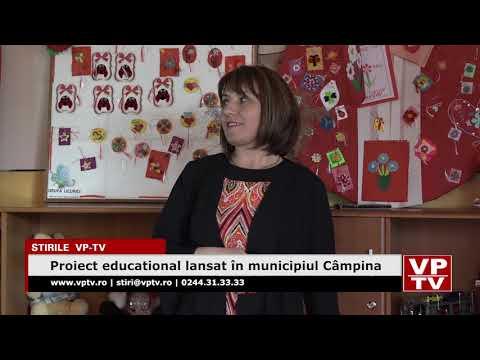 Proiect educational lansat în municipiul Câmpina