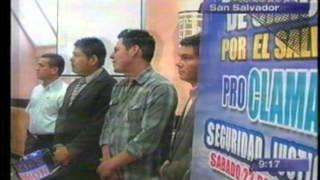 Dia Nacional de Oracion por El Salvador 2013 - Nota noticias 4 vision