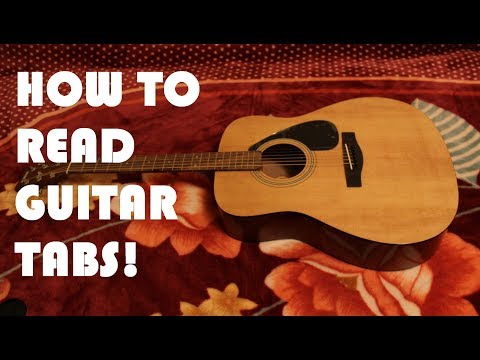 How to read Guitar Tabs or Tablature Tutorial