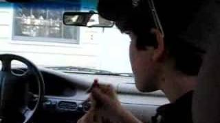 sarah eating toothpaste