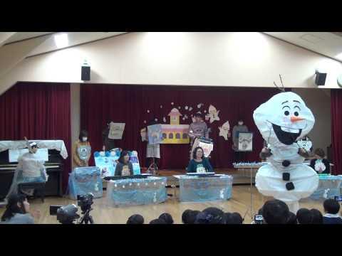 香島幼稚園 すみれ組 生活発表会 (合奏) アナと雪の女王 (エンドソング)