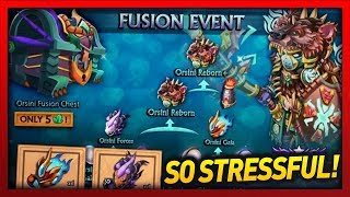 Knights and Dragons - FUSION EVENT MADNESS!! Massive Orsini Fusion Frenzy! EXPENSIVE ARMOR?!?