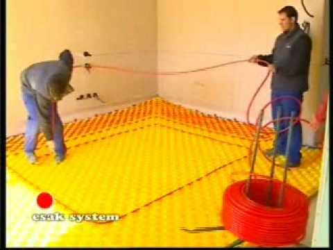 suelo radiante ESAK, diseño e instalacion