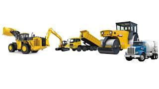 Finger Family Song - Excavator Loader Dump Truck Roadroller Cement Truck - LevianTV Toys