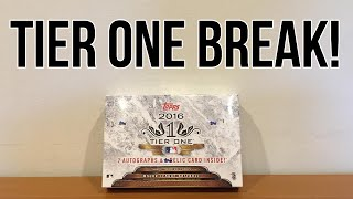 2016 Topps Tier One Box Break!