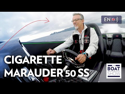 [ENG] CIGARETTE MARAUDER 50 SS - INSANE SPEED! - Review  - The Boat Show