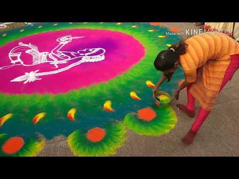 large size womens day special rangoli design by rajashri junnarkar bhagawat