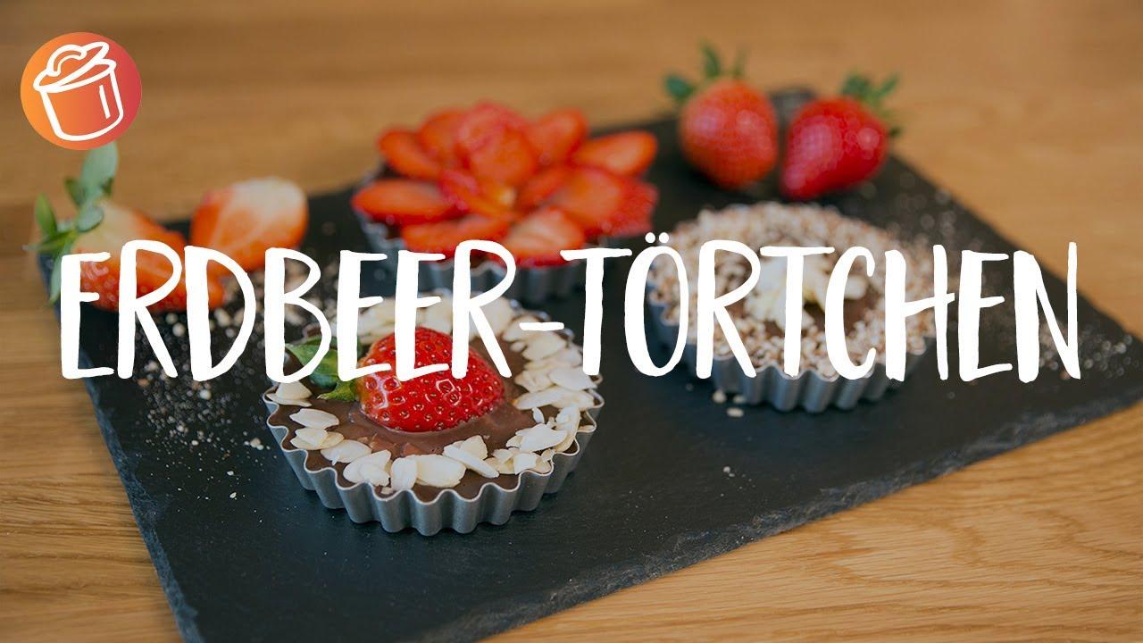 No bake Erdbeer-Törtchen