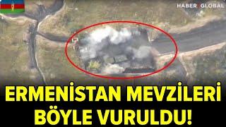 Azerbaycan Ordusu Ateş Açan Ermenistan Mevzilerini Böyle Vurdu! Türkiye\'den Destek Yağdı