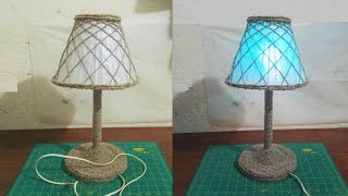 How To Make Table Lamp.Simple And Easy Craft