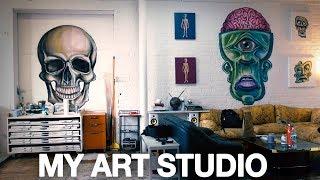 How Did I Get My Own Studio? - (In Depth Art Studio Tour)
