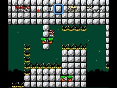 Kaizo Mario World Walkthrough - Kaizo Mario Blind - Part 15