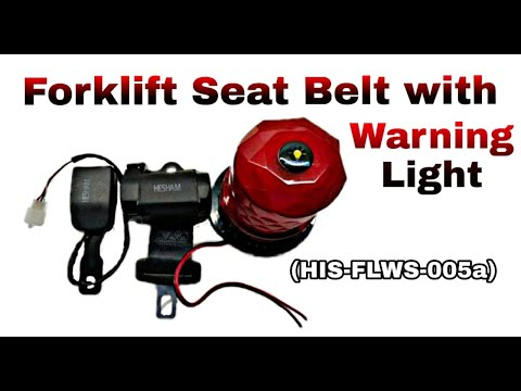Forklift Seat Belt Alarm With Warning Light