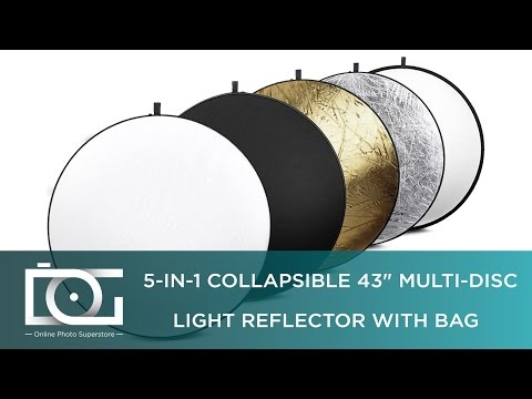 Collapsible 5-in-1 Multi-Disc Light Reflector | How to Use | Tutorial