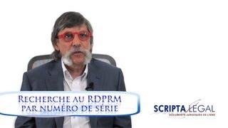 Recherche au RDPRM par numéro de série d'un véhicule routier