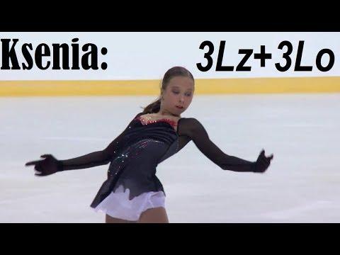 Ksenia SINITSYNA - 3Lz+3Lo, Rus Jr Nats 2019 [50 fps]