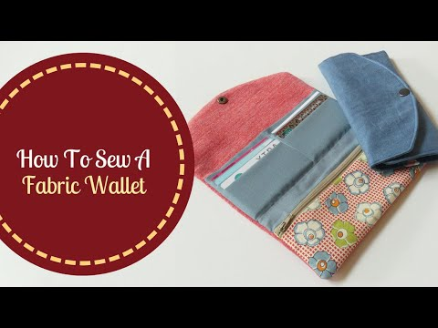 How To Sew A Fabric Wallet | Zipper Pocket | Free Pattern