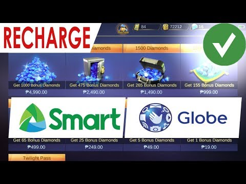 How to Buy Recharge Diamonds in Mobile Legends using Globe / Smart Load