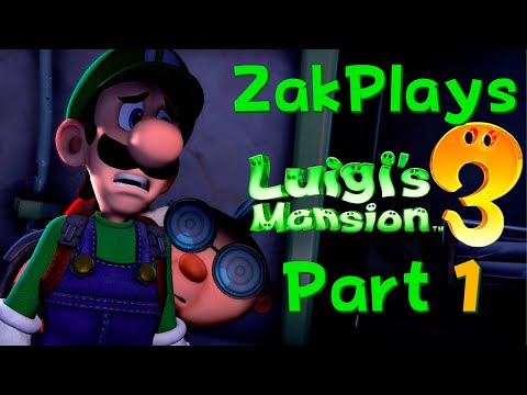 LET'S A GO! Luigi's Mansion 3 (Part 1) -  ZakPlays
