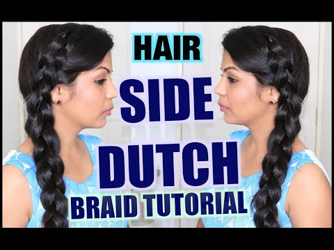 Easy Side Dutch Braid Hairstyles | SuperPrincessjo