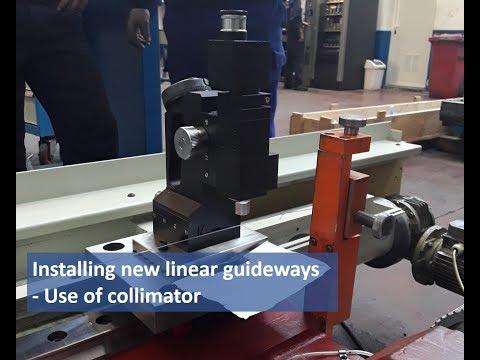 Einsatz eines Kollimators bei der Installation einer neuen Linearführung
