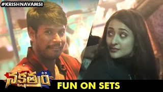 Nakshatram Team Fun on sets