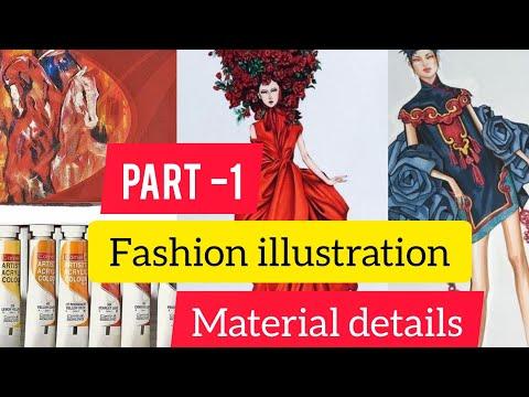 Class 1  Fashion illustration Material Details // Fashion Design