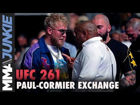 Jake Paul, Daniel Cormier have heated cageside exchange at UFC 261