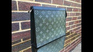 47aebea08221 Louis Vuitton Men Pochette Voyage MM Monogram Eclipse - Radon Your Closet