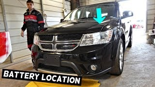 WHERE IS THE BATTERY LOCATED ON DODGE JOURNEY | Fiat Freemont