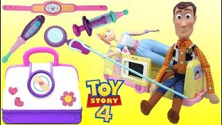 Disney Pixar TOY STORY 4 Bo Peep and Woody Visit Doc McStuffins Toy Hospital