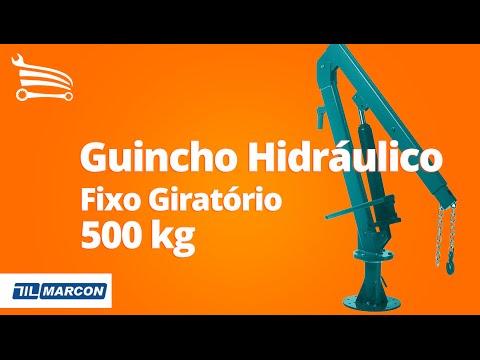 Guincho Hidráulico Fixo Giratório 500Kg - Video