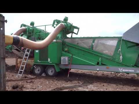 Komptech Hurrikan S Windsifter Separator Removing Plastic Contaminants